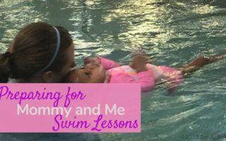 infant swim instructor and infant in pool
