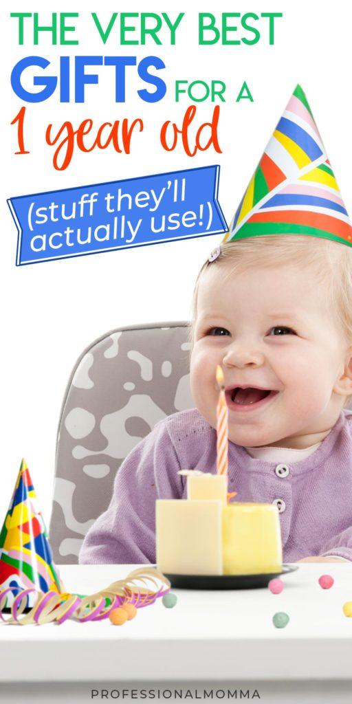 Baby celebrating 1st birthday