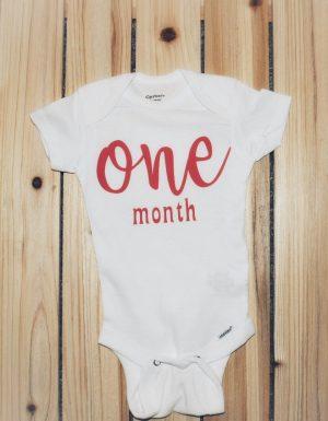 One month onesie