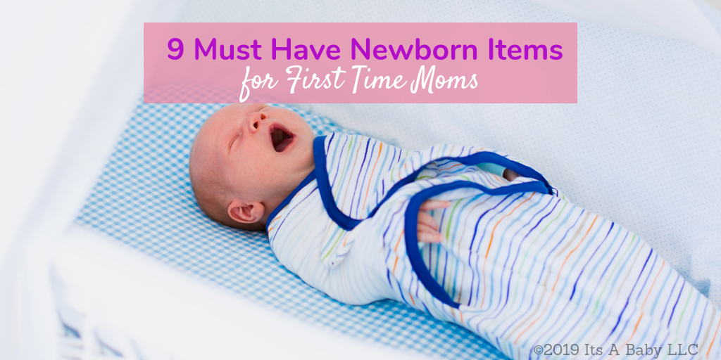 newborn baby with must haves for first time moms