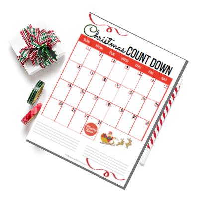 Christmas 2019 Countdown Calendar Template