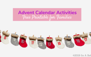 Free printable advent calendar activities