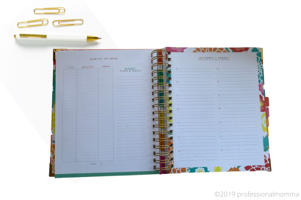 living well planner layout