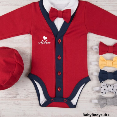 baby boy first valentine's day outfit