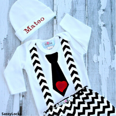 valentines day suspender outfit for boys
