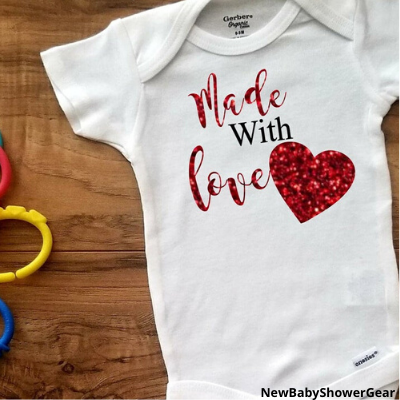 Made with love baby shirt