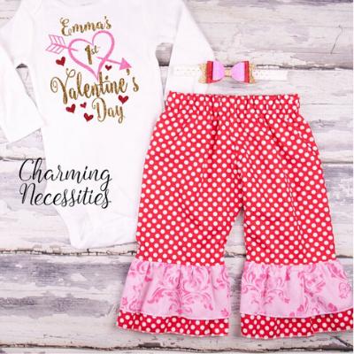 Baby Girl's First Valentine's Day Shirt