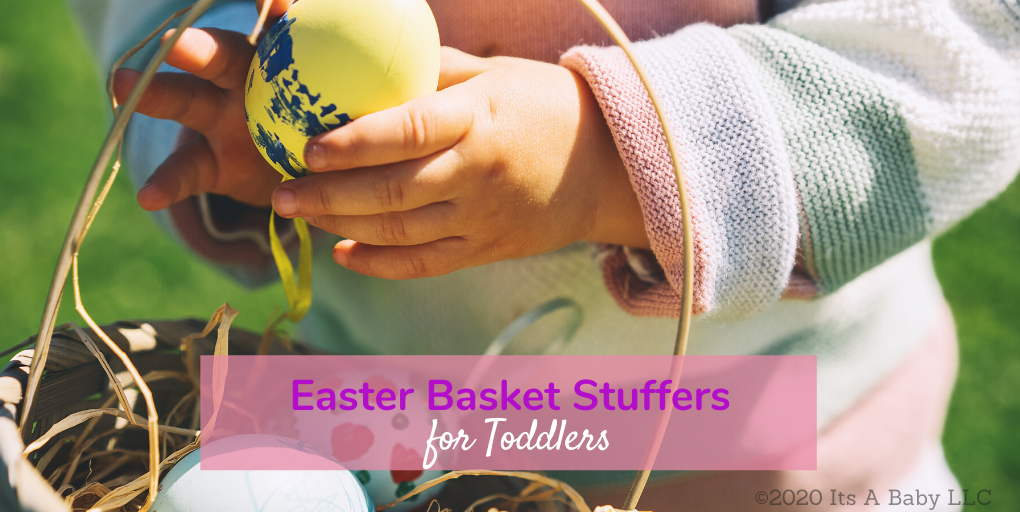 toddler with easter basket