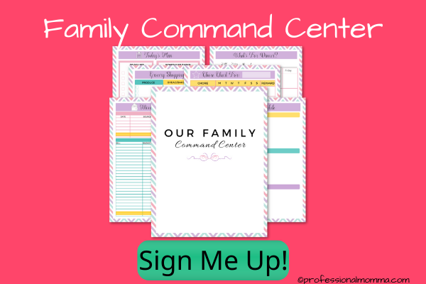 family command center printables