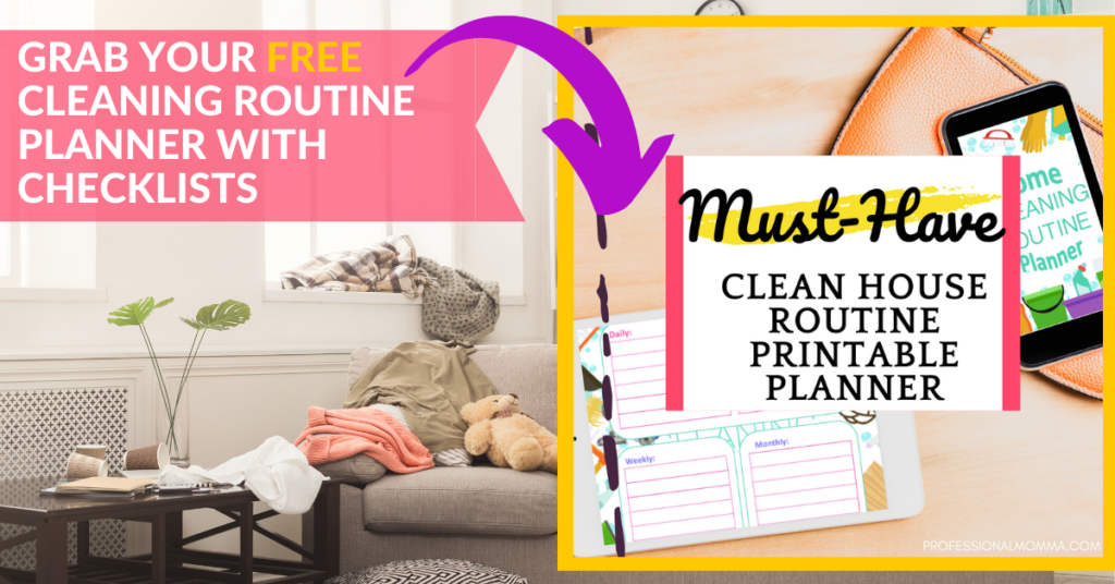 How to Clean When Overwhelmed by Mess Planner