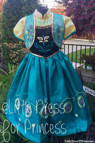 Anna from Frozen Princess Dress