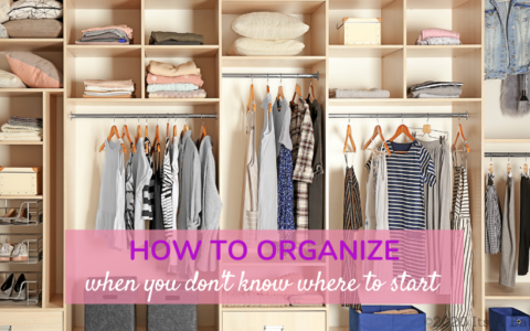 closet organized after learning how to organize when you don't know where to start