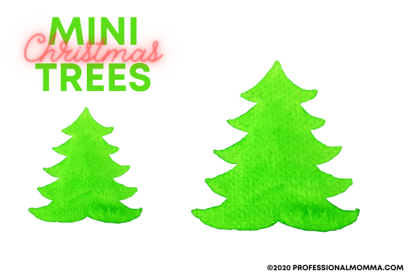 mini christmas trees to color and decorate